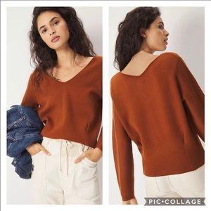 Anthropologie Maeve Lupita V-Neck Sweater |  Sz S
